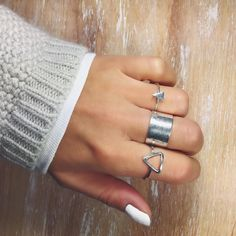 • TRINITY OF HAPPINESS • Shop beautiful RINGS now @ yakamozz.com #ykmzz #silver #rings #jewelry #jewellery #love #beautiful #style #boho #accessories #inspo #inspiration #outfit #blogger #potd #ootd #fashionista #igers #instacool #instadaily #instalike