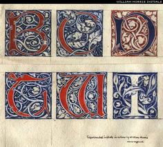 Art of William Morris (1834-1896)  What is Good?: CALLIGRAPHY