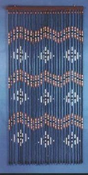 Amazon Wooden Beaded Door Curtain Design 6408 Hand Painted Fits Standard Way Approx 31 Strands Home Kitchen