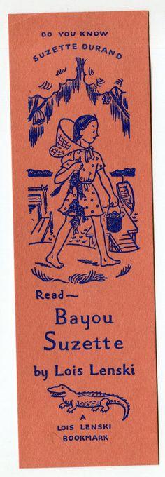 Vintage Lois Lenski Bookmark Bayou Suzette 1943?