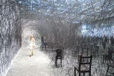 chiharu shiota's thread wrapped charred piano for art basel - designboom | architecture & design magazine