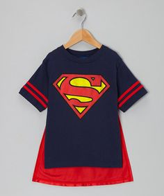 Take a look at this Navy Superman Caped Tee - Toddler & Kids by Superman on #zulily today!