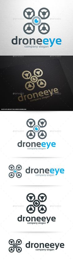 Drone Eye Logo Template #vector #logo #design available at #graphicriver