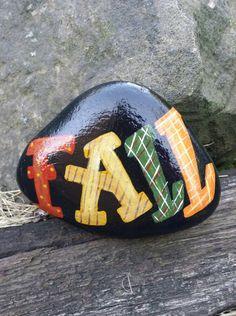 "Hand Painted ""FALL"" Inspired Rock Art /Home Decor/Fall Decor/Autumn/Seasonal by…"