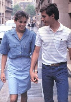teenage Stephanie with her love, Paul Belmondo