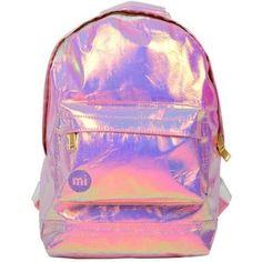 Miss Selfridge Holographic Mini Backpack Rucksack Backpack, Backpack Purse, Mini Backpack, Purse Wallet, Mochila Jansport, Holographic Bag, Cute Backpacks, Summer Bags, Pink Summer