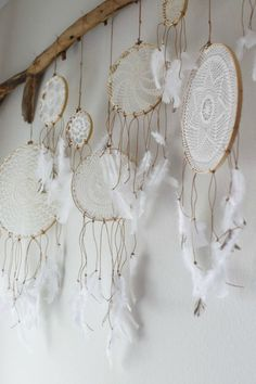 white dreamcatchers