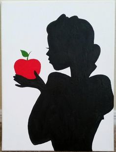 Snow White Silhouette Painting by FableArts on Etsy