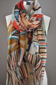 Navaho Print Scarf by Jondie.com
