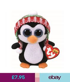 fe889734ed7 TY Beanie Boo Penelope the Penguin Medium Plush Toy To keep my head warm I  have a cool knit hat