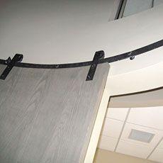 Custom Curved Flat Track barndoorhardwarecom Barn Door Hardware