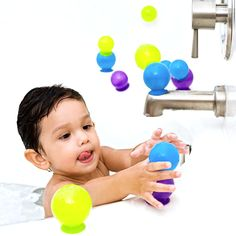 Bubbles, Suction Cup Bath Toys by Boon. Need to buy new bath toys. These look fun. Bath Toys For Toddlers, Kids Toys, Toddler Bath Toys, Best Bath Toys, Baby Center, Baby Store, Bath Time, Baby Gear, Future Baby