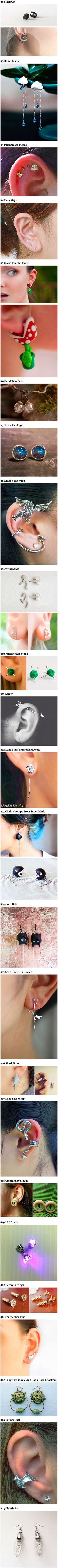 Here are some cool and creative earrings that geeks would love.