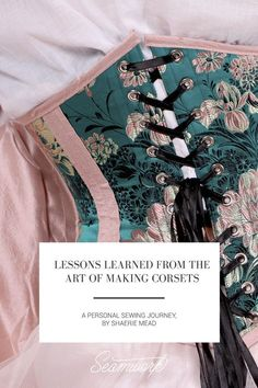 Seamwork Magazine: Lessons Learned from the Art of Making Corsets Diy Corset, Motif Corset, Corset Sewing Pattern, Pattern Drafting, Sewing Patterns, Bra Pattern, Corset Tops, Shirt Patterns, Corset Dresses