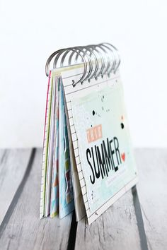 Simple Variations: This Summer mini album + binding tutorial.