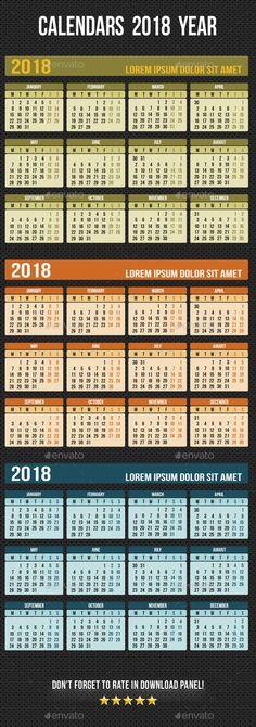 Wall Calendar 2018 V18 Calendar 2018, Calendar and Vs