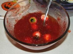 Creepy and Gross Jello Recipes for Fear Factor party