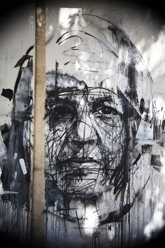 The only truth is in the streets.  Street Artist: Borondo in Athens                                                                                                                                                                                 More