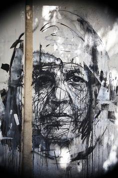 Street Artist: Borondo in Athens.  #borondo http://www.widewalls.ch/artist/borondo/