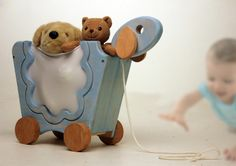 Toy cart made of wood and fabric by Yael Winokur Made Of Wood, Industrial Design, Beautiful Things, Cart, Toys, Fabric, Projects, Covered Wagon, Activity Toys