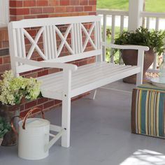 Have to have it. Coral Coast Matera 5 ft. Painted Bench - White $219.98