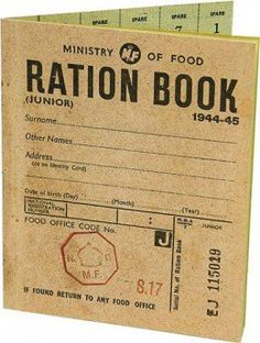 Childs ration book