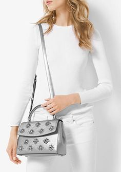 MICHAEL Michael Kors Ava Extra-Small Jewel Leather Satchel