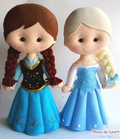 Felt Puppets, Puppets For Kids, Felt Crafts Dolls, Frozen Dolls, Little Mermaid Parties, Felt Decorations, Felt Christmas Ornaments, Lol Dolls, Frozen Birthday