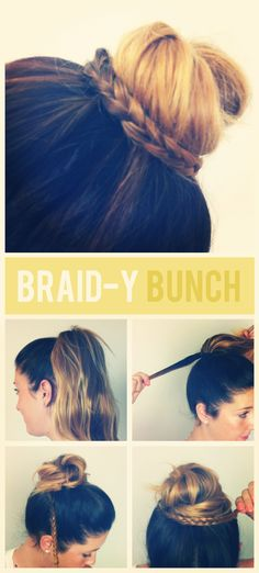 Braid-y Bun. Love This Style Of Hair. My Friend Does It For Me All The Time.