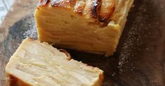 フランスで人気の林檎が層になったケーキ。カットされた断面がなんとも美しいケーキです。