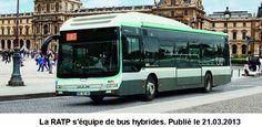 Bus hybride; RATP (Paris, France)