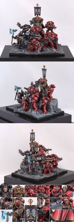40k - Blood Angels Battle Brothers by glazed over