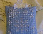 Cross Stitch snowflake cushion