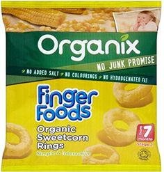 Organix Finger Foods Organic Sweetcorn Rings 7mth 20g  Pack of 6 * Click on the image for additional details.