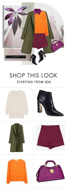 """""""Fall Shorts: 101"""" by pattykake ❤ liked on Polyvore featuring ADAM, Burberry, Zara, Chinti and Parker, Dasein and Uniqlo"""