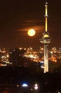 Euromast Rotterdam, The Netherlands #Rotterdam #Netherlands
