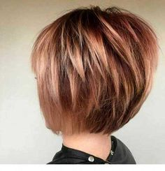 Best Short Layered Haircuts for Women Over 50 - hair & beauty Bob Hairstyles For Fine Hair, Thin Hair Haircuts, Layered Bob Hairstyles, Hairstyles Over 50, Weave Hairstyles, Graduated Bob Haircuts, Layered Haircuts For Women, Short Hair Cuts For Women, Layered Bob Short