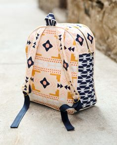 TRUE BIAS - Made By Rae's toddler backpack (larger size) with Arizona fabrics!