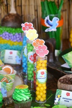 Love this Rio inspired jungle birthday party!