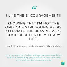 Have you connected with your local InDependent community? Each community is filled with like-minded InDependent followers and health and wellness advocates.  http://www.in-dependent.org/community