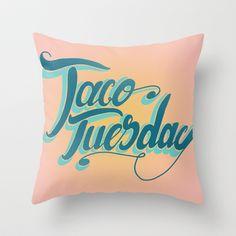 Taco Tuesday Throw Pillow by emilio Santoyo - $20.00