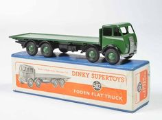DINKY #502 FODEN type 1 flat truck, green