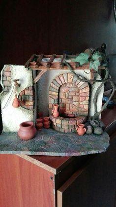 Para el pesebre.... Diorama, Cute Crafts, Diy Crafts, Easter Play, Tabletop, Bible Crafts, Cardboard Crafts, Miniature Fairy Gardens, Beading Tutorials