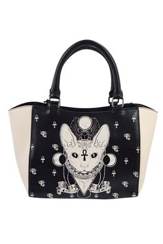 e8f229ebc4 Banned Gothic Bastet Sphynx Cat Occult Goth Satchel Handbag