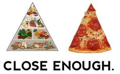 The true diet pyramid ...HA HA Now that is funny right there! Pizza is one of my all time faves.  If only......I am commissioning my Hubby to make me a healthy version.  worth it or no??? I will see, he makes good pizzas.
