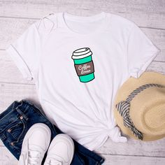 Coffee Lover T-Shirt, Unisex T-Shirt, Coffee T-Shirt, Graphic Tee, Java T-Shirt, Cute Coffee T-Shirt by FunTeazz on Etsy Java, Suits You, Cool T Shirts, Graphic Tees, T Shirts For Women, Unisex, Coffee, Trending Outfits, Fun