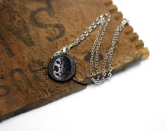 "Victorian Mourning Necklace ""When We Meet Again"" by ChatterBlossom #victorian #mourning #jewelry"