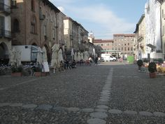 Old town. Market.  Pavia. Italy.