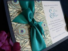 Peacock Wedding Invitation!