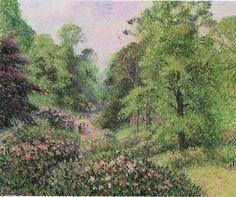 "Camille Pissarro (1830-1903) ~ ""Londres, Kew, Les Rhododendrons"" ~ Huile sur Toile 1892"